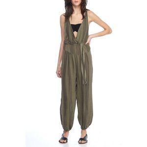 Free People Criss Cross One Piece Jumpsuit